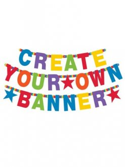 Primary Rainbow Customisable Letter Banner