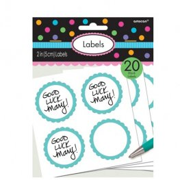Robin Egg Blue Scalloped Labels