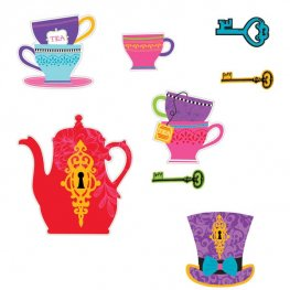 Mad Tea Party Assorted Cut Outs 30pk