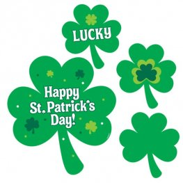 St Patrick's Printed Value Pack Cutouts 30pk