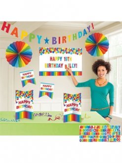 Primary Rainbow Customisable Decoration Kit
