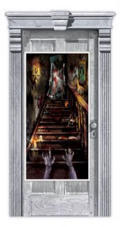 Haunted Stairway Door Decoration