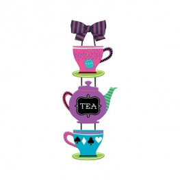 Mad Tea Party Hanging Sign