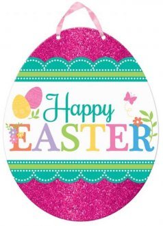 Happy Easter Glitter Cut Outs