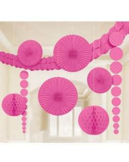 Bright Pink Party Decoration Kit