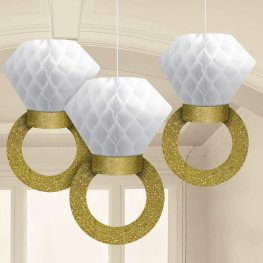 Honeycomb Ring Decorations 3pk