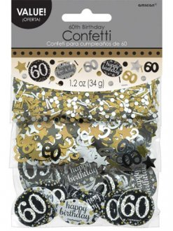 Gold Celebration 60th Confetti
