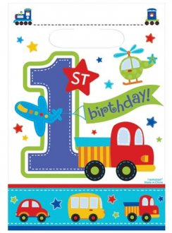 All Aboard Birthday Party Loot Bags x8