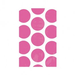 Bright Pink Candy Polka Dots Treat Bags x10