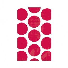 Apple Red Candy Polka Dots Treat Bags x10