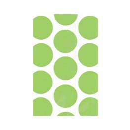 Kiwi Green Candy Polka Dots Treat Bags x10