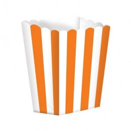 Orange Candy Buffet Popcorn Treat Boxes x5