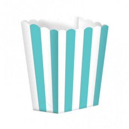 Robin Egg Blue Candy Buffet Popcorn Treat Boxes x5