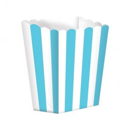 Caribbean Blue Candy Buffet Popcorn Treat Boxes x5