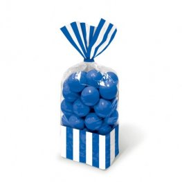 Royal Blue Striped Party Bags x10