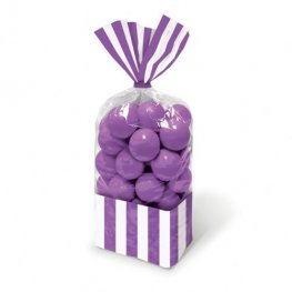 Purple Striped Party Bags x10