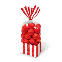 Apple Red Striped Party Bags x10