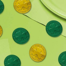 Green & Gold Coin Table Sprinkles 100pk