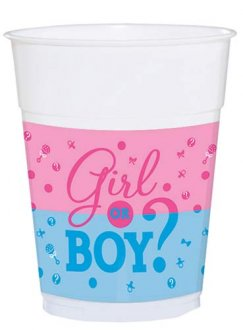 Girl Or Boy Plastic Cups 25pk