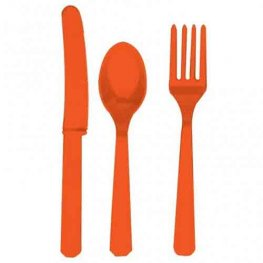 Orange Peel Assorted Cutlery 24pk
