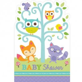 Woodland Welcome Post Card Invitations 8pk