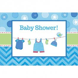 Shower With Love Baby Boy Postcard Invitations 8pk