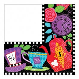 Mad Tea Party Beverage Napkins 16pk