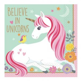 Magical Unicorn Beverage Napkins 12pk