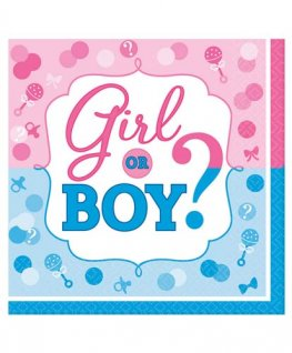 Girl Or Boy Luncheon Napkins 16pk