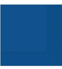 Bright Royal Blue 2ply Luncheon Napkins 20pk
