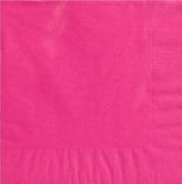 Bright Pink 2ply Dinner Napkins x20
