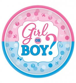 Girl Or Boy Paper Plates 8pk