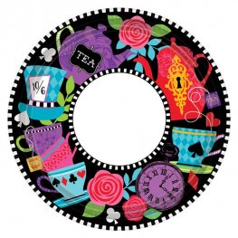 Mad Tea Party 18cm Paper Plates 8pk