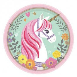 Magical Unicorn 18cm Paper Plates 8pk