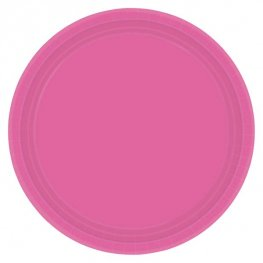 Bright Pink Paper Plates 8pk