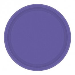 New Purple Paper Plates 8pk