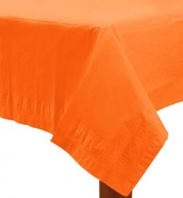 Orange Peel Paper Tablecover 1pk