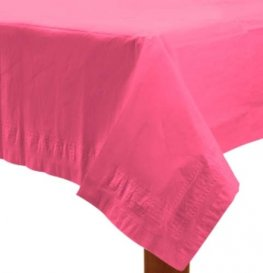 Bright Pink Paper Tablecover 1pk