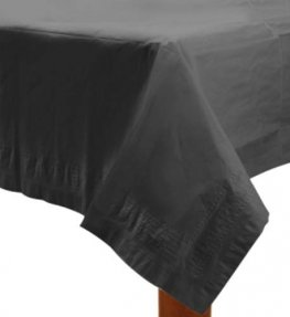 Jet Black Paper Tablecover 1pk