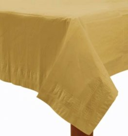 Gold Paper Tablecover 1pk
