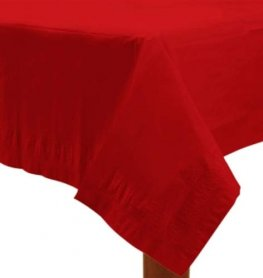 Apple Red Paper Tablecover 1pk