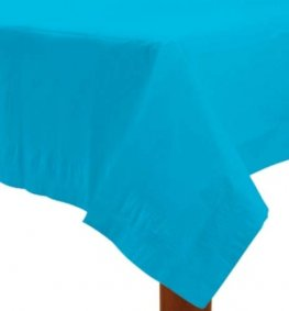 Caribbean Blue Paper Tablecover 1pk
