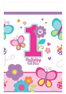 Sweet Birthday Girl Plastic Tablecover x1