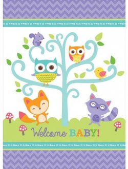 Woodland Welcome Tablecover 1pk