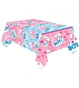 Girl Or Boy Plastic Tablecover 1pk