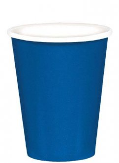 Bright Royal Blue Paper Cups 8pk