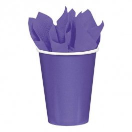 New Purple Paper Cups 8pk