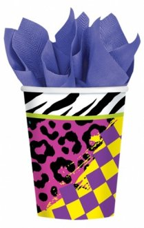 Totally 80s Party Cups 8pk