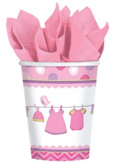 Shower With Love Baby Girl Paper Cups 8pk