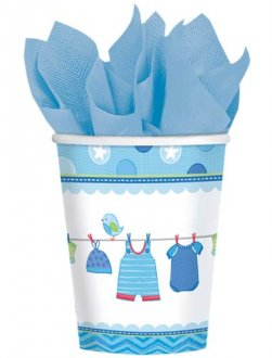 Shower With Love Baby Boy Paper Cups 8pk